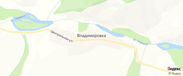 Карта села Владимировки в Алтае с улицами и номерами домов