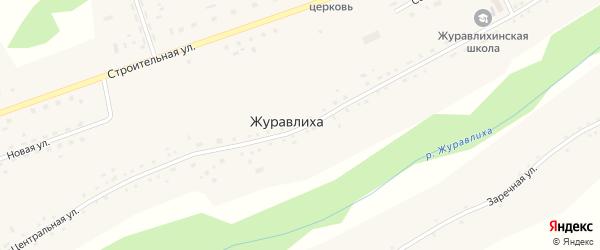 Центральная улица на карте села Журавлихи с номерами домов