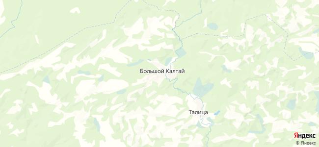 Большой Калтай на карте