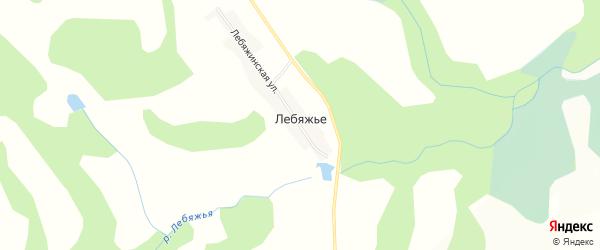 Карта деревни Лебяжьего в Новосибирской области с улицами и номерами домов
