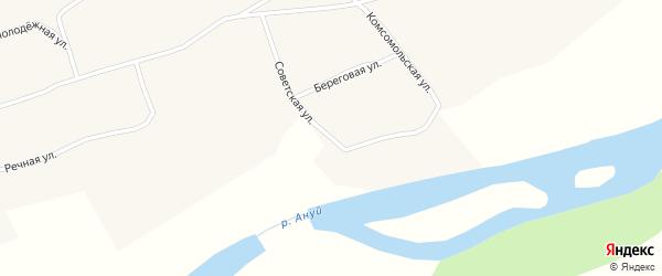 Советская улица на карте села Паутово с номерами домов