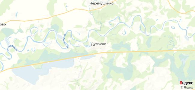 Думчево на карте
