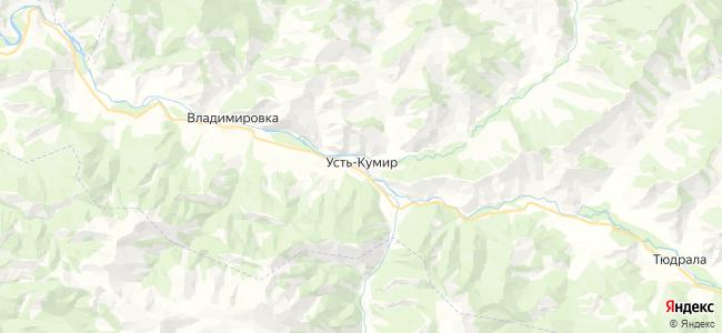 Усть-Кумир на карте