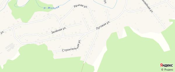 Зелёная улица на карте села Жилино с номерами домов