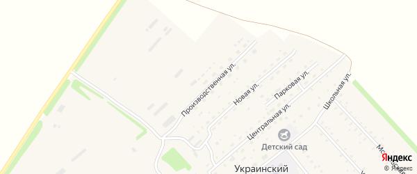 Производственная улица на карте Украинского поселка с номерами домов