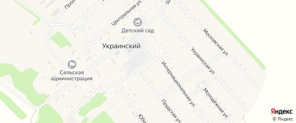 Малая улица на карте Украинского поселка с номерами домов