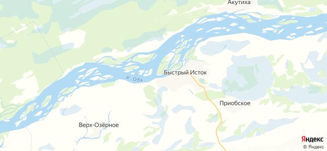 Быстрый Исток на карте
