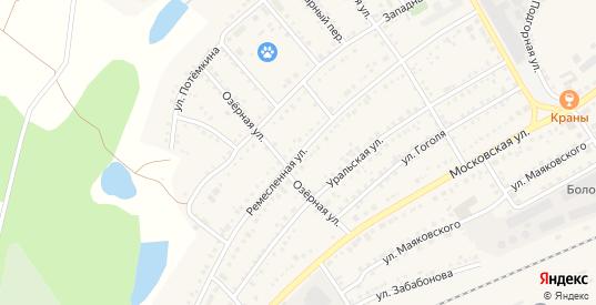 Ремесленная улица в Болотном с номерами домов на карте. Спутник и схема онлайн