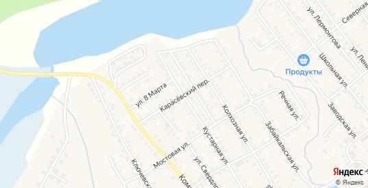 Карасевский переулок в Болотном с номерами домов на карте. Спутник и схема онлайн