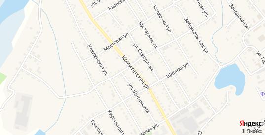 Комитетская улица в Болотном с номерами домов на карте. Спутник и схема онлайн