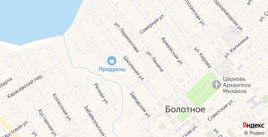 Школьная улица в Болотном с номерами домов на карте. Спутник и схема онлайн