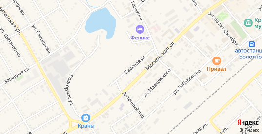 Садовая улица в Болотном с номерами домов на карте. Спутник и схема онлайн