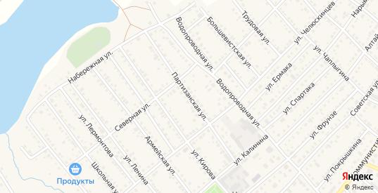 Партизанская улица в Болотном с номерами домов на карте. Спутник и схема онлайн