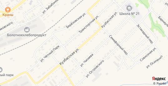 Кузбасская улица в Болотном с номерами домов на карте. Спутник и схема онлайн