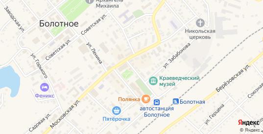 Улица 50 лет Октября в Болотном с номерами домов на карте. Спутник и схема онлайн
