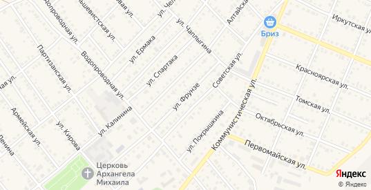 Улица Фрунзе в Болотном с номерами домов на карте. Спутник и схема онлайн