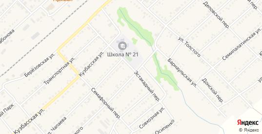 Эстакадный переулок в Болотном с номерами домов на карте. Спутник и схема онлайн