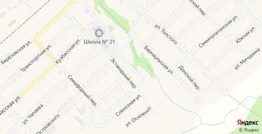 Береговой переулок в Болотном с номерами домов на карте. Спутник и схема онлайн