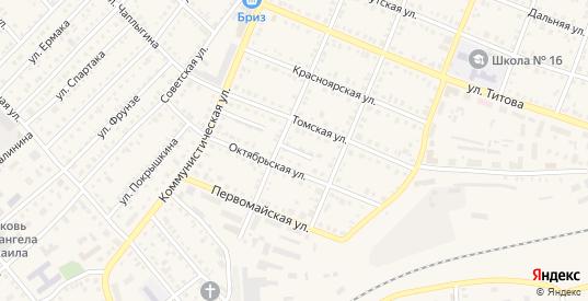 Переулок Котовского в Болотном с номерами домов на карте. Спутник и схема онлайн