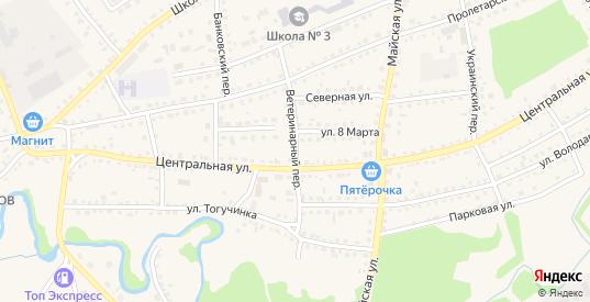 Ветеринарный переулок в Тогучине с номерами домов на карте. Спутник и схема онлайн