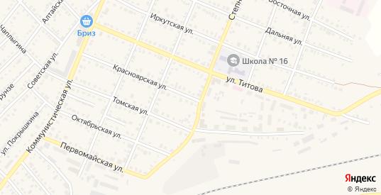 Красноярская улица в Болотном с номерами домов на карте. Спутник и схема онлайн