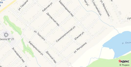 Семипалатинская улица в Болотном с номерами домов на карте. Спутник и схема онлайн