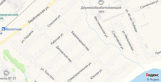 Баррикадный переулок в Болотном с номерами домов на карте. Спутник и схема онлайн