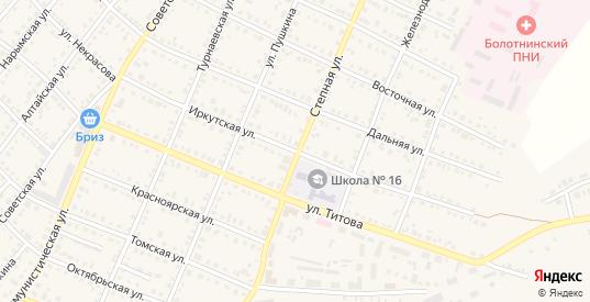 Иркутская улица в Болотном с номерами домов на карте. Спутник и схема онлайн