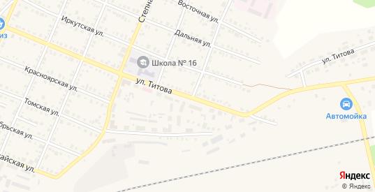 Улица Титова в Болотном с номерами домов на карте. Спутник и схема онлайн