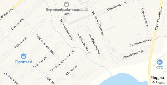 Спортивная улица в Болотном с номерами домов на карте. Спутник и схема онлайн