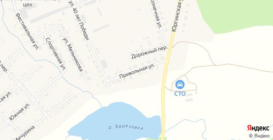 Привольная улица в Болотном с номерами домов на карте. Спутник и схема онлайн