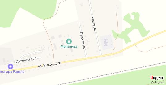 Луговая улица в Болотном с номерами домов на карте. Спутник и схема онлайн