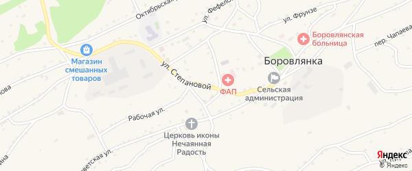 Улица Степановой на карте села Боровлянки Алтайского края с номерами домов
