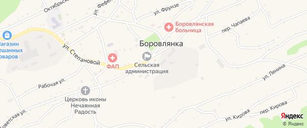 Улица Степановой на карте села Боровлянки с номерами домов