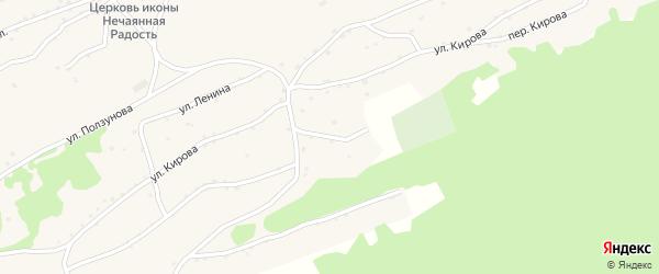 Комсомольская улица на карте села Боровлянки Алтайского края с номерами домов