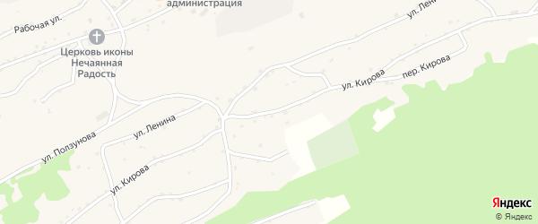 Улица Кирова на карте села Боровлянки Алтайского края с номерами домов
