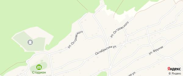Улица Островского на карте села Боровлянки Алтайского края с номерами домов