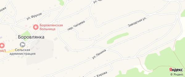 Заводской переулок на карте села Боровлянки с номерами домов