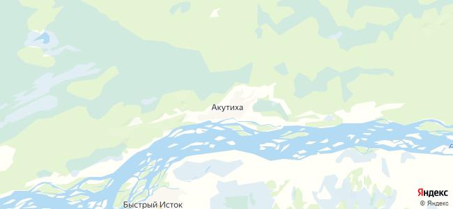 Акутиха на карте