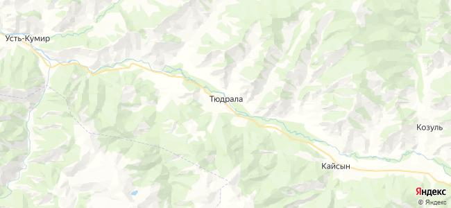 Тюдрала на карте