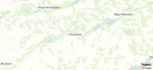 Глушинка на карте