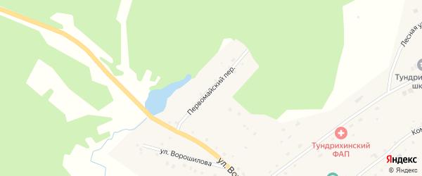 Первомайский переулок на карте села Тундрихи с номерами домов
