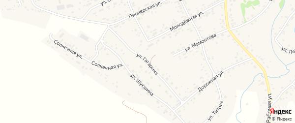 Улица Гагарина на карте села Косихи Алтайского края с номерами домов