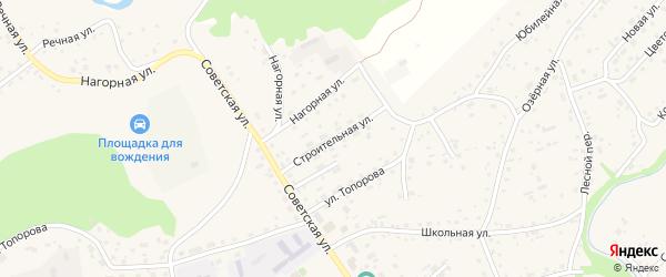 Строительная улица на карте села Косихи с номерами домов