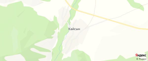 Карта села Кайсына в Алтае с улицами и номерами домов