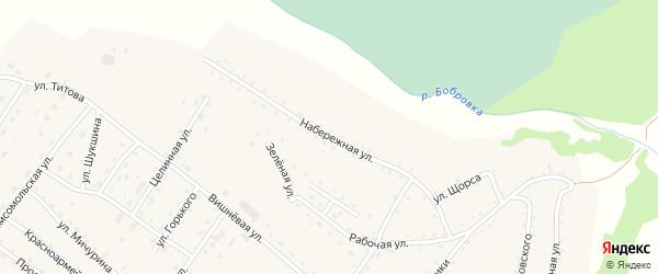 Набережная улица на карте села Налобиха с номерами домов