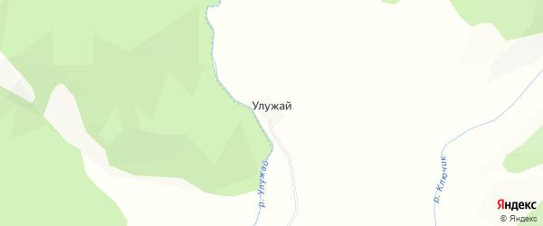 Карта поселка Улужая в Алтае с улицами и номерами домов