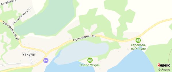 Приозерная улица на карте поселка Уткуля с номерами домов