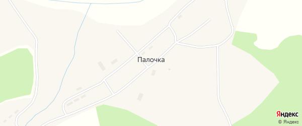 Новая улица на карте села Палочки Томской области с номерами домов