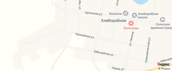 Урожайная улица на карте Хлеборобного села с номерами домов